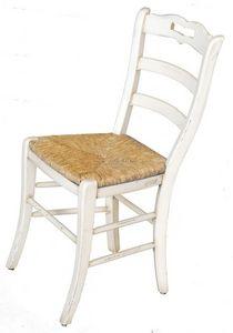 Ophélie BR.0202.P, Silla con asiento de paja, de estilo clásico