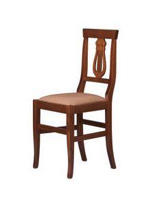 R02, Silla rústica en madera maciza, asiento en diversos materiales