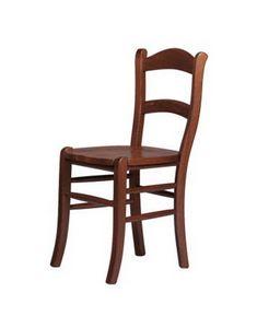 R06, Silla rústica en madera maciza de haya, sentado en diversos materiales