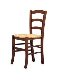 R07, Silla rústica, asiento de paja, para los bares y clubes de vino