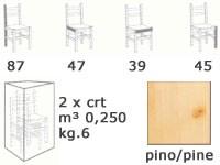 S/101 curva cuore, Presidente totalmente en madera, en estilo rústico