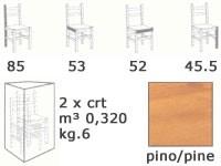 S/104 old america, Silla rústica en madera para pub y pensiones