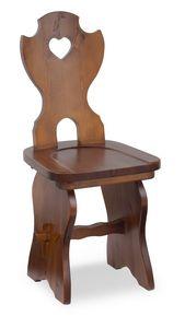 S/106 Silla Fratino, Silla de madera en pino macizo, para hoteles de montaña