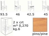 S/109 P Anita Paja, Silla con asiento de paja, para las residencias rústicas