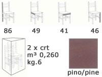 S/127 P Paesana paja, Silla rústica en madera maciza de pino, con asiento de paja