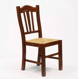 Silla de madera con asiento de paja para cocina y comedor Silvana Paglia SS015PAG, Silla de mala calidad, asiento de paja