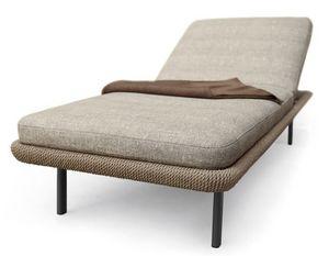 Babylon Día-cama, Cama acolchada para el exterior, en aluminio y fibra sintética