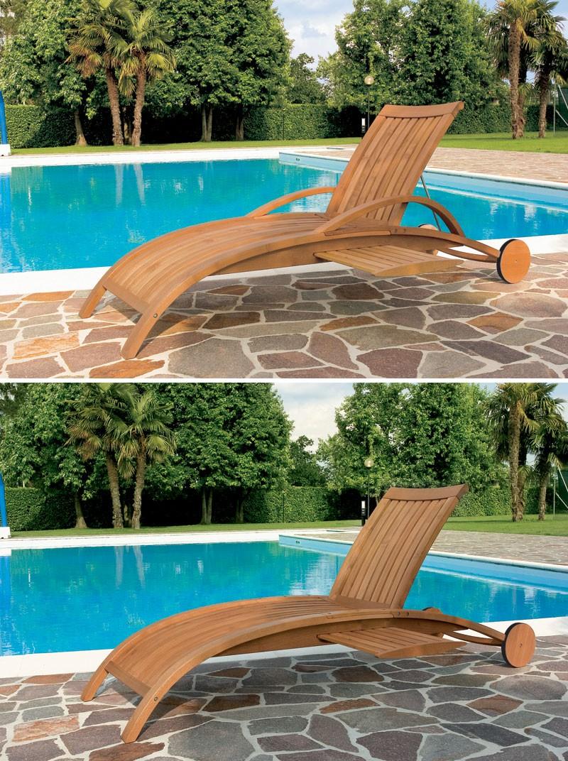 Tumbona de piscina y jardn motivo con lamas verticales - Tumbonas piscina ...