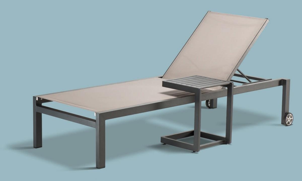 PL Santiago, Tumbona en aluminio y textileno, para centros de bienestar