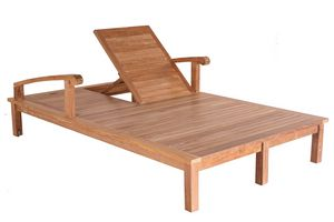 Saint Laurent 0514, Tumbona doble de madera, ajustable