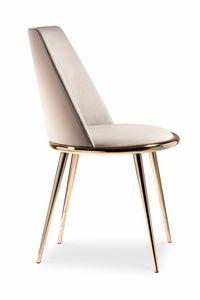 Aurora silla, Silla con la ropa puesta, extraíble y acolchada