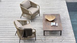 Cricket sillón, Sillón lounge al aire libre con respaldo tejido