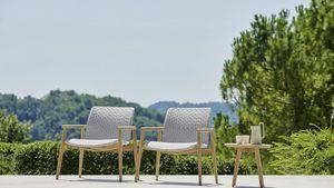 Lapis sillón, Sillón de exterior con asiento ancho