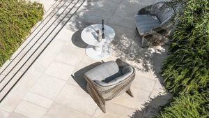 Maat poltrona lounge, Sillón lounge con asiento ancho, para exteriores