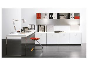 SEVENTY DAY comp.08 office, Sistema de oficina modular, diferentes elementos y acabados