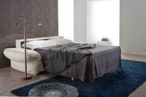 CLOUD, Sofá cama en tela extraíble