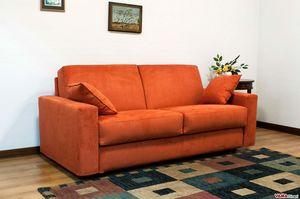 Eco Matrix, Sofá cama extraíble con cojines de contenedor.