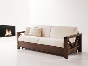 Monet, Sofá-cama de madera, convertible, para sala de estar