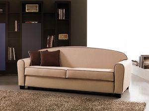Narciso, Sofá-cama doble, tela extraíble, colchón de muelles