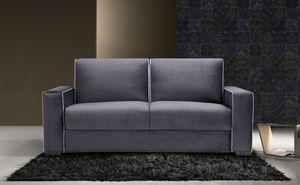 Papete, Sofá cama con elegantes líneas sobrias