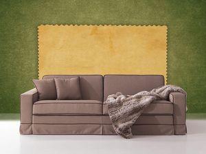 Polifemo, Sofá con cama oculta, abertura frontal, para sala de estar