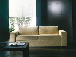Prometeo, Ultramoderno sofá cama, convertible en cama, cubierta desmontable