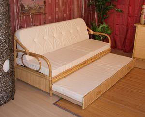 Sofá cama Giunco, Sofá cama con estructura de caña, estilo étnico