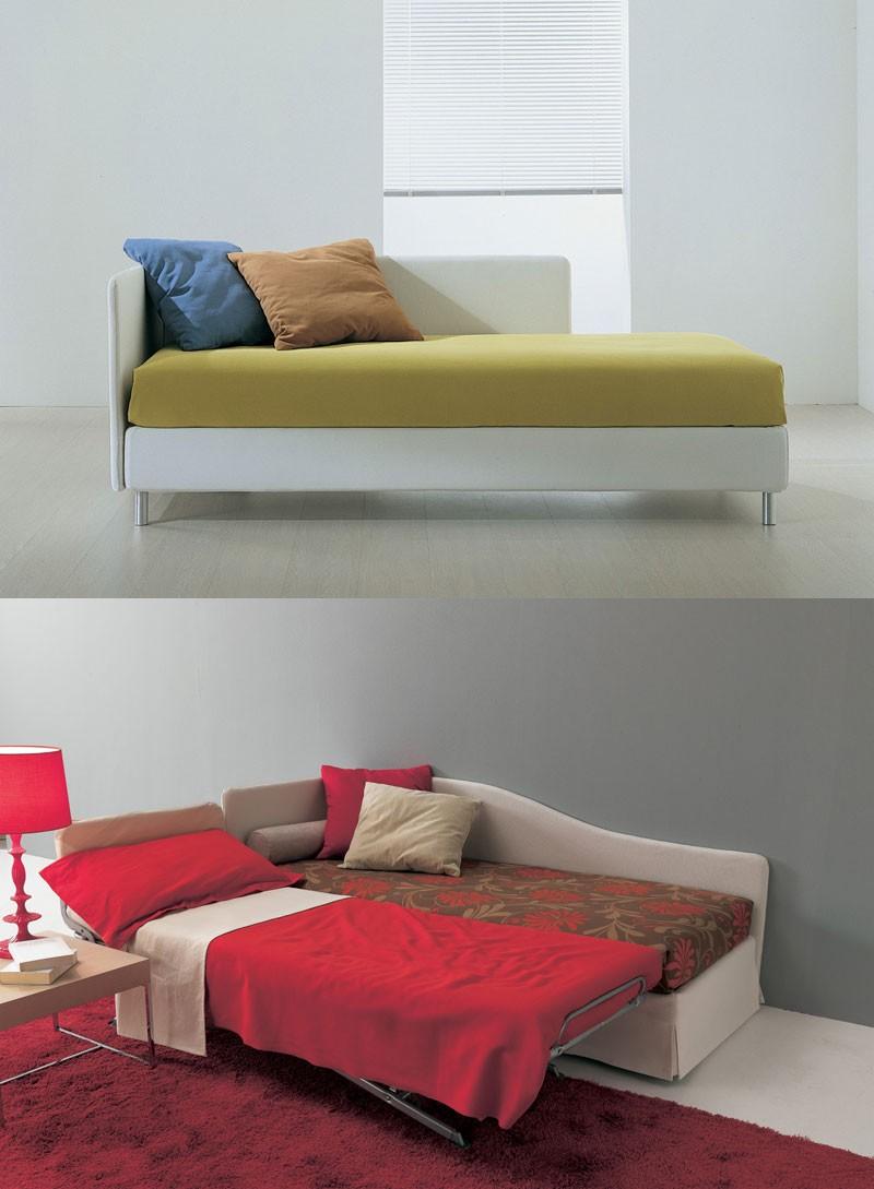 Sommier, Sofá-cama, con una ganancia neta ortopédica, para apartamentos