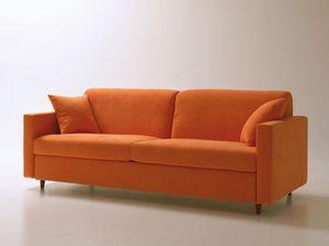 Voyager, Sofá-cama, con apertura giratoria que permite ahorrar espacio, tela extraíble