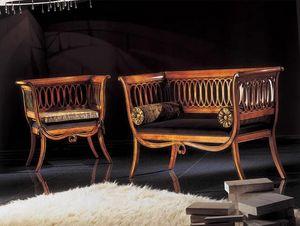 210D, Sofá pequeño de estilo clásico