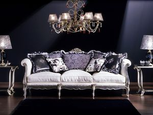 3380 Louis XV sofa, Sofá de 3 plazas, estilo Luis XV, a los clásicos salas de estar