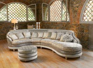 Airone modular, Sofá de esquina en estilo clásico, acolchada copetudo