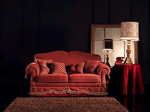 Alessandra, Copetudo sofá, 2 asientos, por encargo, para sala de estar