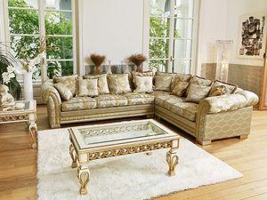 Ambassador modular, Corner sofá clásico de lujo, mide personalizable