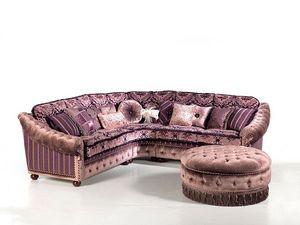 Angelica, Sofá de la esquina tapizados, acolchado, por encargo