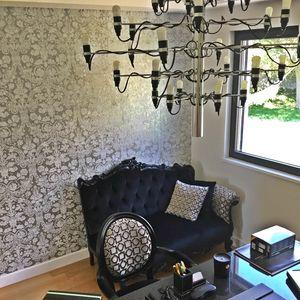 Angolo sofá con reposabrazos, Sofá de lujo en estilo clásico contemporáneo