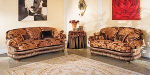 Aramis, Sofá con líneas curvas, estilo clásico y lujoso