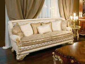 Art. 1051, Sofá de lujo cubierto de seda, respaldo acolchado