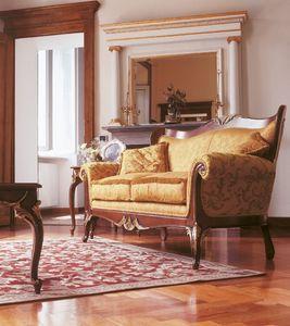 Art. 1054, Sofá tapizado, con tallas, para los salones de estilo de lujo