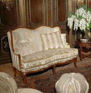 Art. 1075, Sofá de lujo, cubierto de terciopelo y seda, hecho a mano