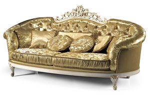 1736/L, Sofás con capitonnè para salas de estar clásicas