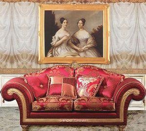 Art. IM 22 Imperial, Sofá clásico de lujo, tapizado con telas preciosas extraíbles
