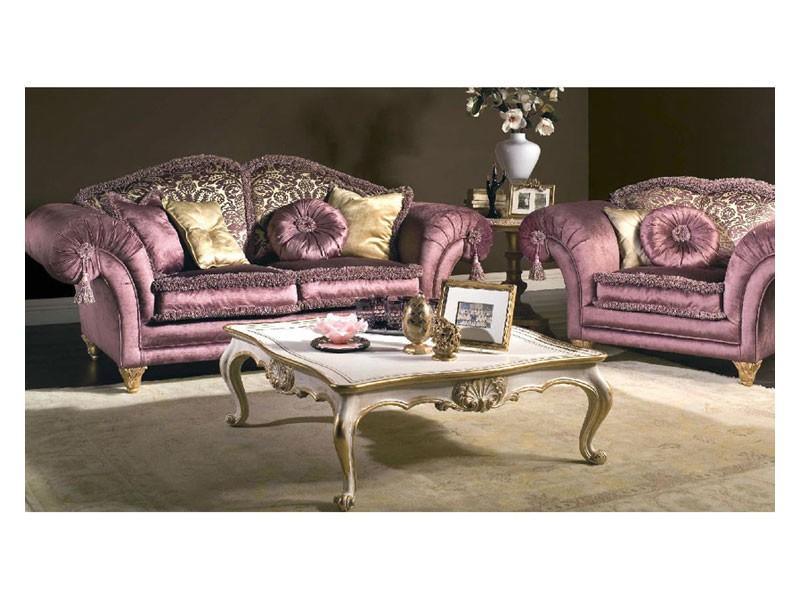 Art. MA 43 Majestic, Sofá clásico de gran elegancia, rico en detalles preciosos