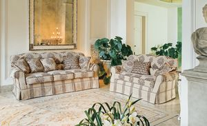 Bacio, Sofá tapizado de lujo de estilo clásico para la sala de estar