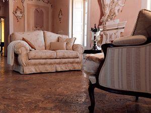 Beatrice, Sofá tapizado clásico, personalizado disponibles