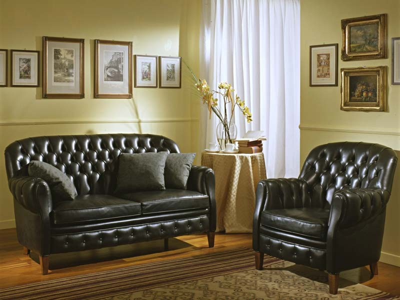 Bulbas Divano Capitonnè, Sofá clásico de lujo, capitonné, para halles de hotel y sala de estar