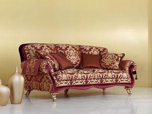 Camelia, Sofá de estilo clásico y lujoso, piernas talladas a mano