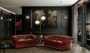 CHESTER, Sofá con estilo inglés clásico