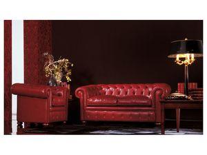 Chester, Sofá clásico adecuado para la sala de estar