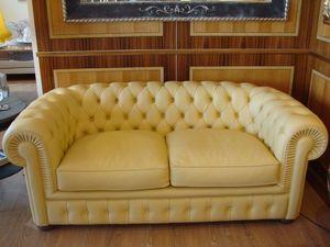 Chester, Sofá copetudo, clásico, con 2 asientos, sala de estar